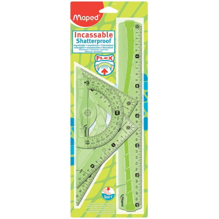 Комплект за чертане Maped Flex 30 см., 4 части