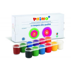 Темперна боя Primo, 12 цвята в бурканче
