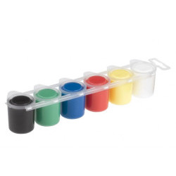 Темперни бои Primo, 6 цвята, 25 мл, в бурканче